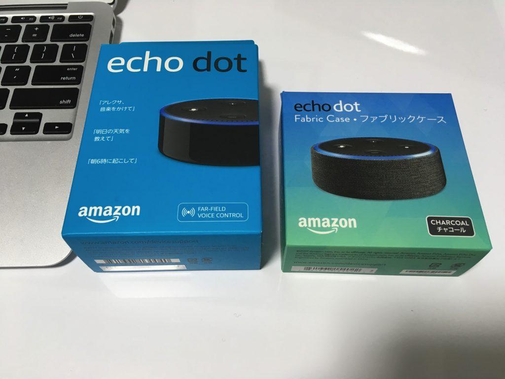 Echo dotとファブリックケース